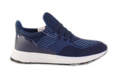 Mėlyni tekstiliniai sportiniai bateliai paaugliams 2134