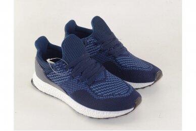 Mėlyni tekstiliniai sportiniai bateliai paaugliams 2134 3