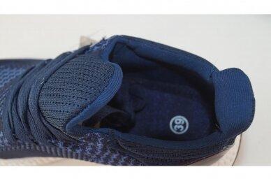 Mėlyni tekstiliniai sportiniai bateliai paaugliams 2134 4
