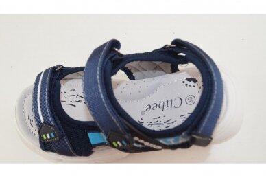 Mėlynos baltu padu su trim lipukais Clibee basutės berniukams 7753 4