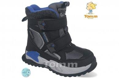 Juodi su lipdukais Tomm žieminiai batai berniukams su vilnos kailiu 9414