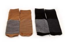 Moteriškos plonos kojinės-pėdutės su pėdos pašiltinimu