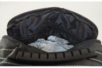 Nedidelė juoda pluoštinė vyriška rankinė per petį 6582 6