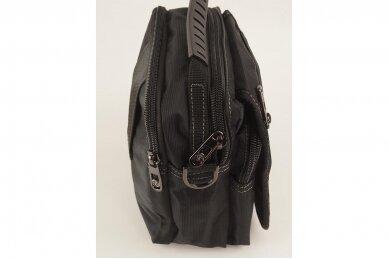 Nedidelė juoda pluoštinė vyriška rankinė per petį 7066 4