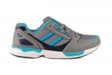 Pilki+mėlyni suvarstomi vyriški sportiniai laisvalaikio batai 9567