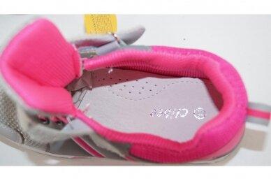 Pilki-rožiniai suvarstyti gumyte su lipduku Clibee sportiniai batai mergaitėms 4