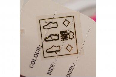 Pilki-rožiniai suvarstyti gumyte su lipduku Clibee sportiniai batai mergaitėms 5