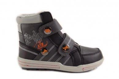 Pilki su lipdukais su pašiltinimu laisvalaikio batai berniukams