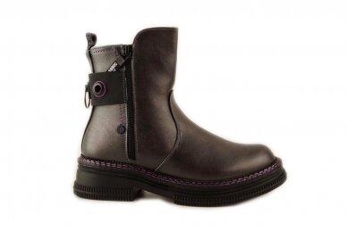 Pilki su užtrauktuku šone Tom.m žieminiai batai mergaitėms su vilnos kailiu 9758 2