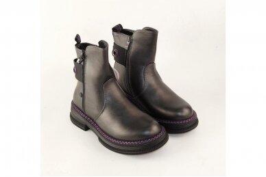 Pilki su užtrauktuku šone Tom.m žieminiai batai mergaitėms su vilnos kailiu 9758 4