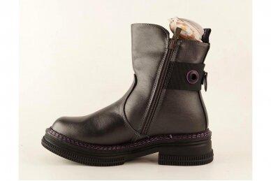 Pilki su užtrauktuku šone Tom.m žieminiai batai mergaitėms su vilnos kailiu 9758 3