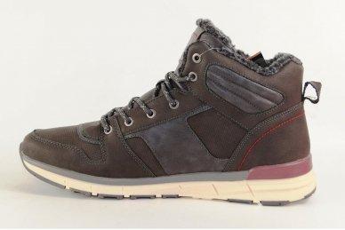 Pilki suvarstomi ArrigoBelo vyriški žieminiai sportiniai batai su vilnos kailiu 2
