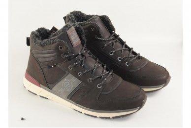 Pilki suvarstomi ArrigoBelo vyriški žieminiai sportiniai batai su vilnos kailiu 3