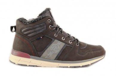 Pilki suvarstomi ArrigoBelo vyriški žieminiai sportiniai batai su vilnos kailiu