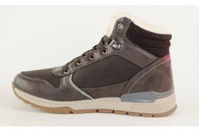 Pilki suvarstomi ArrigoBelo žieminiai sportiniai batai su vilnos kailiu paaugliams 9129p 2