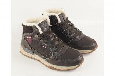 Pilki suvarstomi ArrigoBelo žieminiai sportiniai batai su vilnos kailiu paaugliams 9129p 3