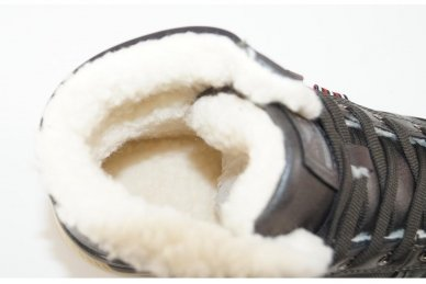 Pilki suvarstomi ArrigoBelo žieminiai sportiniai batai su vilnos kailiu paaugliams 9129p 4