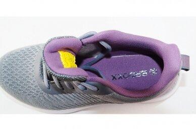 Pilki-violetiniai medžiaginiai suvarstomi Badoxx moteriški sportiniai bateliai 4