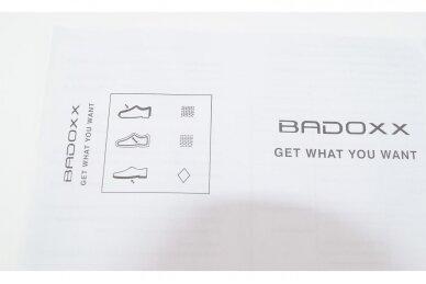 Pilki-violetiniai medžiaginiai suvarstomi Badoxx moteriški sportiniai bateliai 5