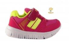 Raudoni-salotiniai suvarstyti gumyte su lipduku Tomm sportiniai bateliai mergaitėms