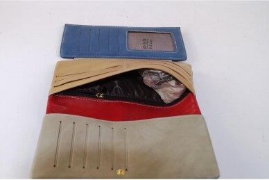Raudona-spalvota moteriška piniginė AC167 5