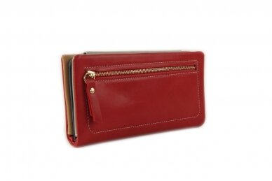 Raudona-spalvota moteriška piniginė AC167