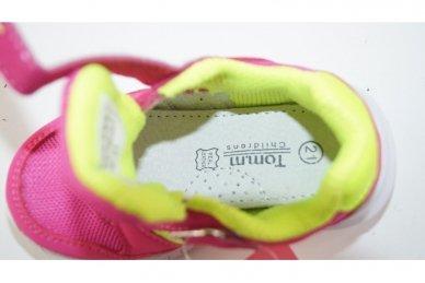 Raudoni-salotiniai suvarstyti gumyte su lipduku Tomm sportiniai bateliai mergaitėms 4
