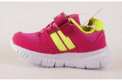 Raudoni-salotiniai suvarstyti gumyte su lipduku Tomm sportiniai bateliai mergaitėms 2