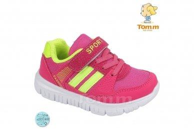Raudoni-salotiniai suvarstyti gumyte su lipduku Tomm sportiniai bateliai mergaitėms 5