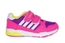 Ružavi+violetiniai su lipdukais sportiniai batai mergaitėms guminiu padu