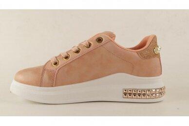 Ružavi suvarstomi papuošti akutėmis moteriški laisvalaikio batai 5131 2