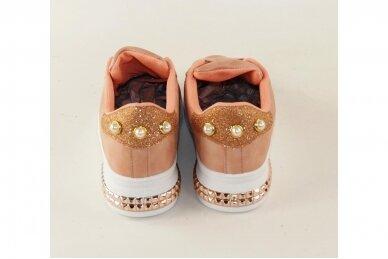 Ružavi suvarstomi papuošti akutėmis moteriški laisvalaikio batai 5131 4