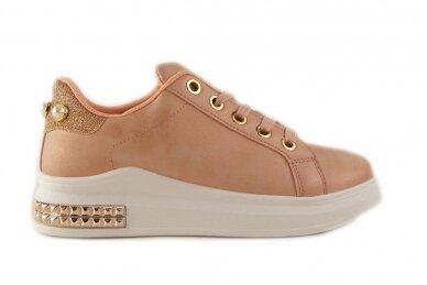 Ružavi suvarstomi papuošti akutėmis moteriški laisvalaikio batai 5131