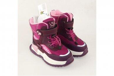Ružavi suvarstyti gumyte užsegami lipuku Tom.m žieminiai batai su vilnos kailiu mergaitėms 9529v 4