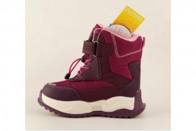 Ružavi suvarstyti gumyte užsegami lipuku Tom.m žieminiai batai su vilnos kailiu mergaitėms 9529v 3