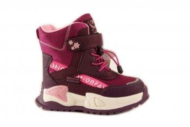 Ružavi suvarstyti gumyte užsegami lipuku Tom.m žieminiai batai su vilnos kailiu mergaitėms 9529v 2