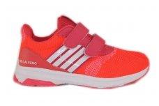 Ryškiai raudoni su lipdukais sportiniai bateliai mergaitėms 6158
