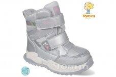 Sidabriniai su lipukais Tom.m žieminai batai mergaitėms su vilnos kailiu 9588