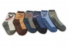 Šiltos Aura.via kojinės berniukams su frotiniu vidumi GVF920 (5 poros)