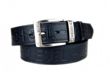 Storas juodas tvirtas odinis  vyriškas CezMar diržas PM-4-N21 8527 2