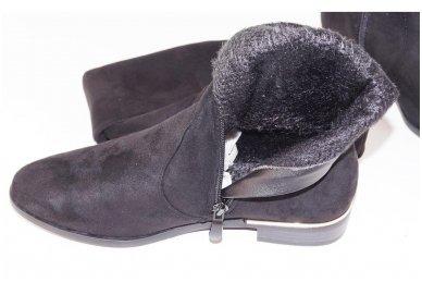 Super ilgi medžiaginiai (veliūriniai) su pašiltinimu ir užtrauktuku šone moteriški batai 0076 5