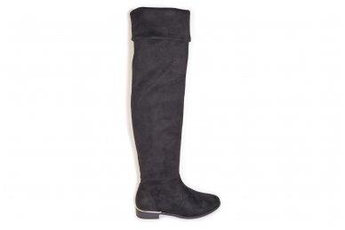 Super ilgi medžiaginiai (veliūriniai) su pašiltinimu ir užtrauktuku šone moteriški batai 0076 2