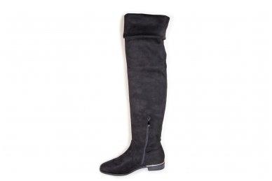 Super ilgi medžiaginiai (veliūriniai) su pašiltinimu ir užtrauktuku šone moteriški batai 0076 3
