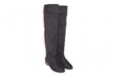 Super ilgi medžiaginiai (veliūriniai) su pašiltinimu ir užtrauktuku šone moteriški batai 0076 4