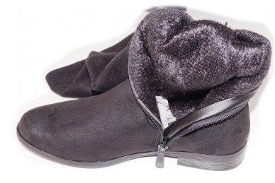 Super ilgi medžiaginiai (veliūriniai) su pašiltinimu ir užtrauktuku šone moteriški batai 0161 5