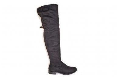 Super ilgi medžiaginiai (veliūriniai) su pašiltinimu ir užtrauktuku šone moteriški batai 0161