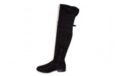 Super ilgi medžiaginiai (veliūriniai) su pašiltinimu ir užtrauktuku šone moteriški batai 0161 2