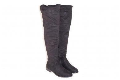 Super ilgi medžiaginiai (veliūriniai) su pašiltinimu ir užtrauktuku šone moteriški batai 0161 3