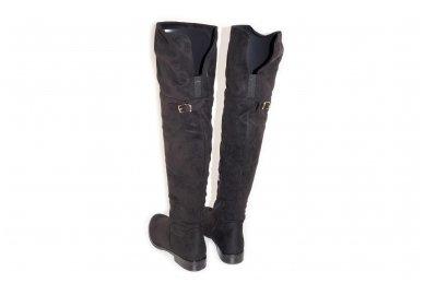 Super ilgi medžiaginiai (veliūriniai) su pašiltinimu ir užtrauktuku šone moteriški batai 0161 4