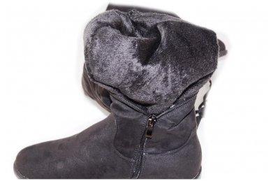 Super ilgi medžiaginiai (veliūriniai) su pašiltinimu ir užtrauktuku šone moteriški batai 3177 4
